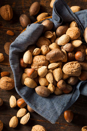 mixed nuts: Assortment of Whole Raw Mixed Nuts for the Holidays
