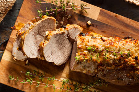 pork meat: Homemade Hot Pork Tenderloin with Herbs and Spices