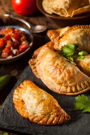 minced pie: Homemade Stuffed Chicken Empanadas