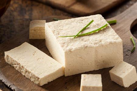 tofu: Organic Raw Soy Tofu on a Background Stock Photo