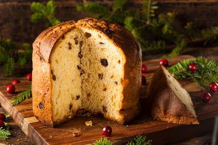 Homemade Panettone Fruit Cake Ready for Christmas