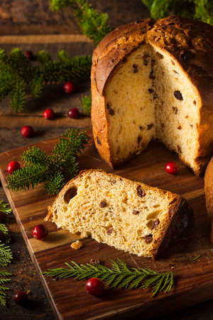 Homemade Panettone Fruit Cake Ready for Christmas