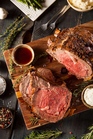 roast: Homemade Grass Fed Prime Rib Roast with Herbs and Spices