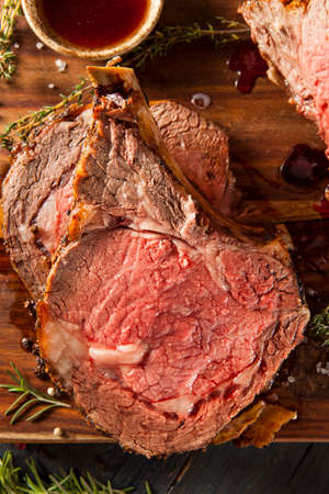 Homemade Grass Fed Prime Rib Roast with Herbs and Spices photo