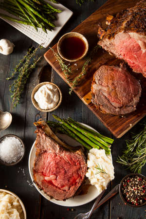 fresh meat: Homemade Grass Fed Prime Rib Roast with Herbs and Spices