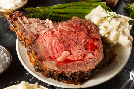 prime rib: Homemade Grass Fed Prime Rib Roast with Herbs and Spices