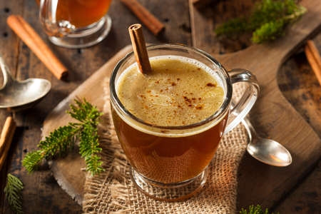 Homemade Hot Buttered Rum for the Holidays Stock Photo