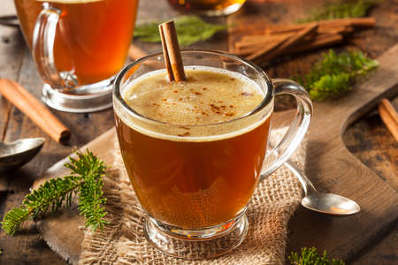 buttered: Homemade Hot Buttered Rum for the Holidays Stock Photo