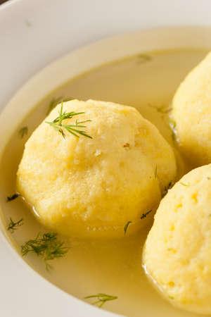 matzah ball: Hot Homemade Matzo Ball Soup in a Bowl