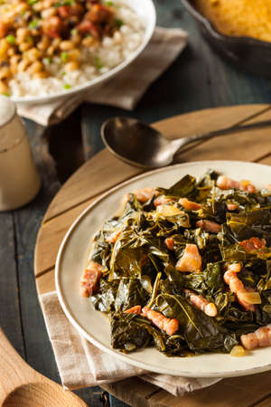 Southern Style Collard Greens with Salt Pork photo
