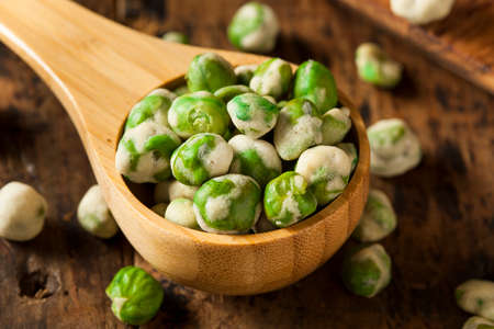 coated: Homemade Dry Spice Wasabi Peas as an Appetizer