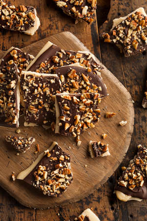 pecans: Homemade Chocolate English Toffee Topped with Nuts