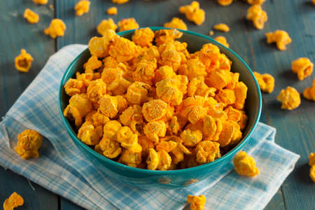 popcorn bowls: Homemade Cheddar Cheese Popcorn in a Bowl