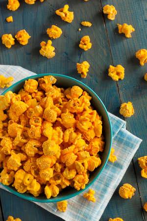 cheddar: Homemade Cheddar Cheese Popcorn in a Bowl
