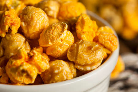 bowl of popcorn: Chicago Style Caramel and Cheese Popcorn Mixture