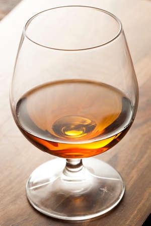 Amber Brandy in a Glass Ready to Drink Zdjęcie Seryjne