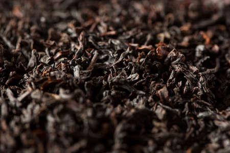 loose leaf: Dry Black Loose Leaf Tea in a Bowl