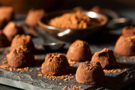 chocolate: Fancy Dark Chocolate Truffles Ready to Eat