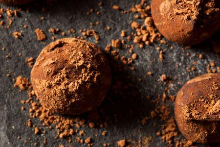 Fancy Dark Chocolate Truffles Ready to Eat