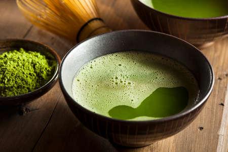 matcha: Organic Green Matcha Tea in a Bowl