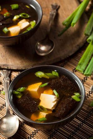 hashi: Hot Homemade Miso Soup with Tofu and Seaweed