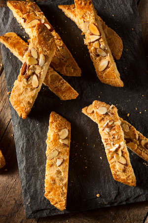 crumbly: Homemade Almond Biscotti Pastry Ready for Breakfast