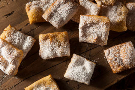 sprinkled: Homemade Powder Sugar Beignets Ready for Breakfast
