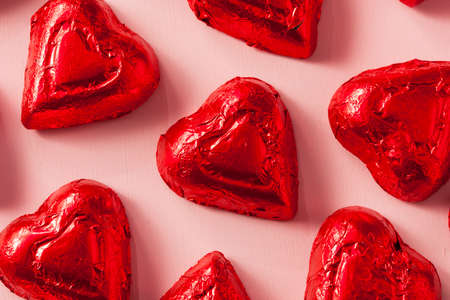 Chocolate Candy Heart Sweets For Valentine\'s Day Stock Photo ...