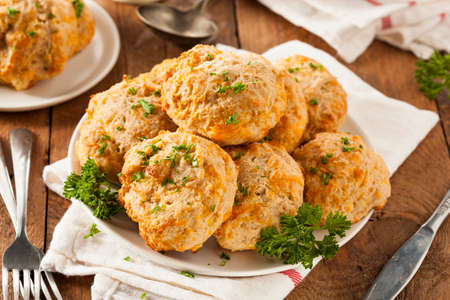 crumbly: Homemade Cheddar Cheese Biscuits with Parsley