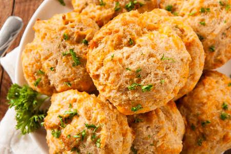 queso cheddar: Galletas hechas en casa del queso Cheddar con Perejil