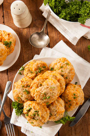 cheddar: Homemade Cheddar Cheese Biscuits with Parsley