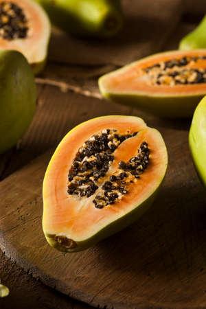 green papaya: Raw Organic Green Papaya with Black Seeds