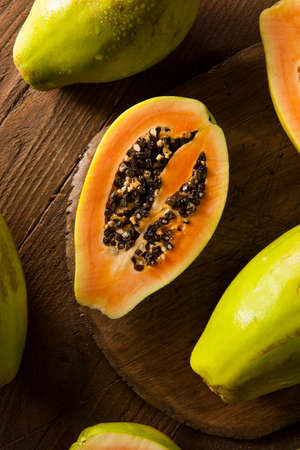 Raw Organic Green Papaya with Black Seeds
