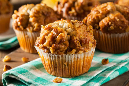 Homemade Banana Nut Muffins Ready to Eat