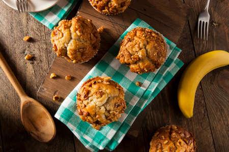 banana bread: Homemade Banana Nut Muffins Ready to Eat
