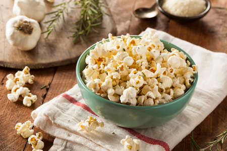 fresh pop corn: Homemade Rosemary Herb and Cheese Popcorn in a Bowl