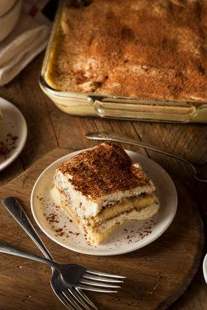 Homemade Tiramisu for Dessert with Coffee and Chocolate