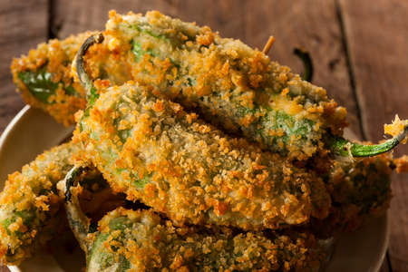 party poppers: Homemade Breaded Jalapeno Poppers with Cream Cheese