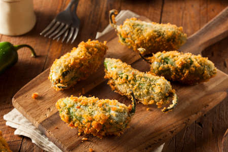 Homemade Breaded Jalapeno Poppers with Cream Cheese