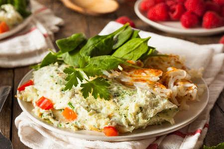 huevo blanco: Healthy espinacas Clara de Huevo Tortilla con tomates
