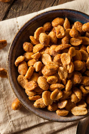 Homemade Honey Roasted Peanuts in a Bowl