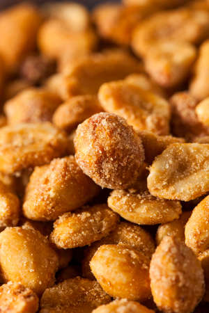 coated: Homemade Honey Roasted Peanuts in a Bowl