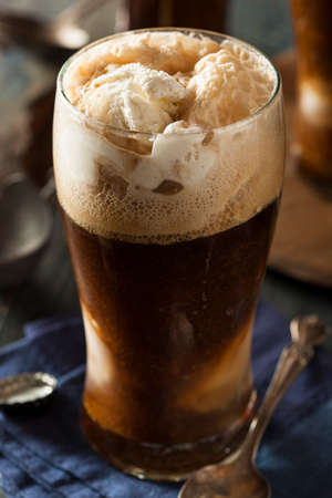 vanilla ice cream: Frozen Dark Stout Beer Float with Ice Cream