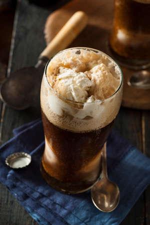 root beer: Frozen Dark Stout Beer Float with Ice Cream