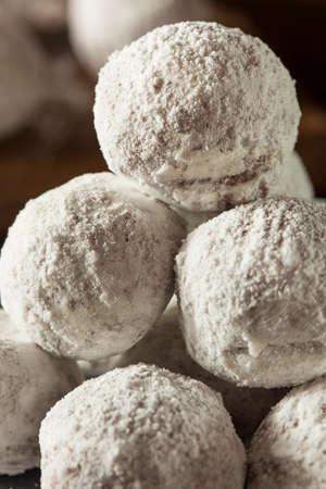 sugary: Homemade Sugary Donut Holes on a Background Stock Photo