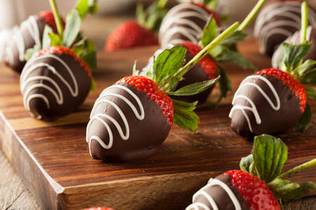 Homemade Chocolate Dipped Strawberries Ready to Eat