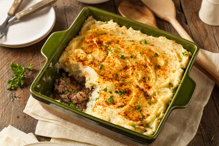 Homemade Irish Shepherd's Pie with Lamb and Potatoes Stockfoto
