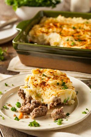 Homemade Irish Shepherds Pie with Lamb and Potatoes