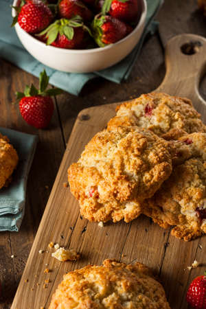 scones: Homemade Strawberry Scones Ready to Eat for Breakfast