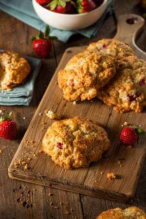 scone: Homemade Strawberry Scones Ready to Eat for Breakfast